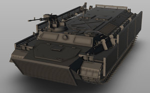 mt-lb bronirovanny vehicle model