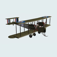 3D vickers vimy bomber model