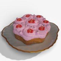 3D cake cream model