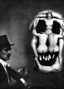 3D women skull dali model