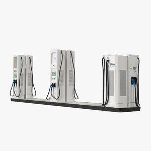 evgo chargers charging ev 3D model