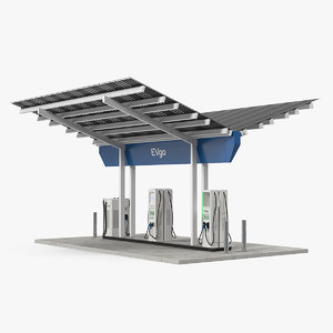 3D evgo fast charging station model