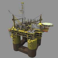 Real-time offshore oil rig