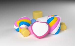 3D marshmallow