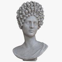 flavian woman bust 3D