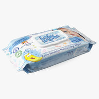 baby wet wipes 3D model