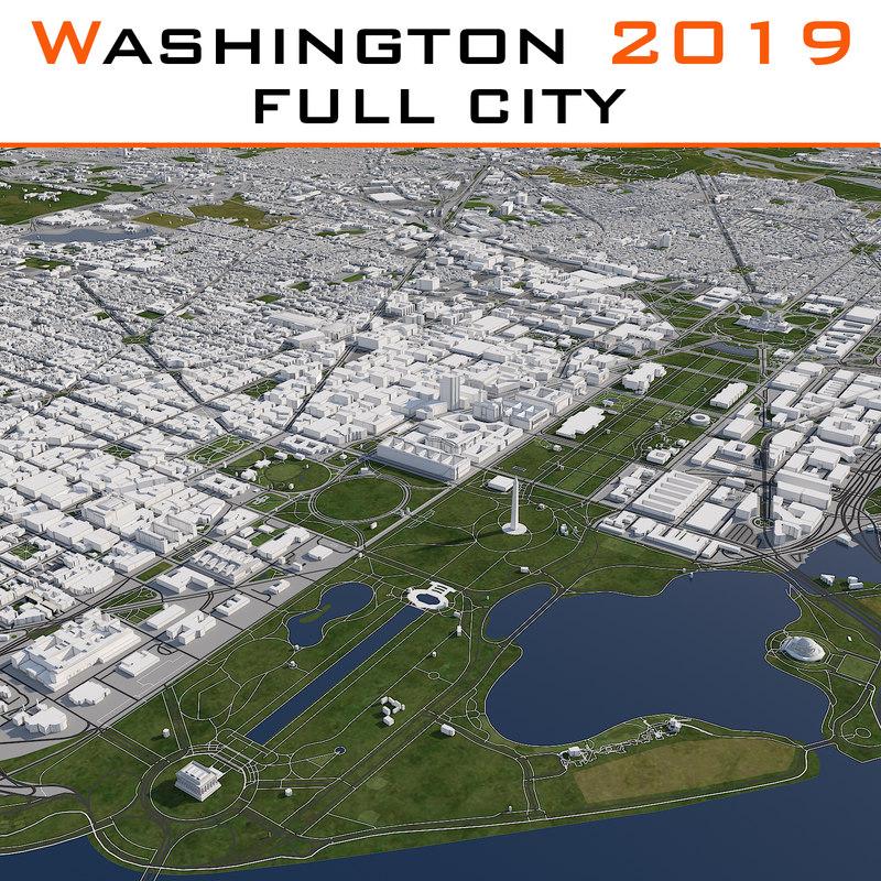 washington dc cityscape 3d max