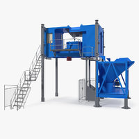 mobile mixing plant generic 3D model