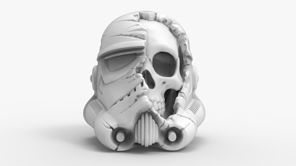 3D model trooper skull helmet