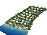 seaside homes sea 3D model