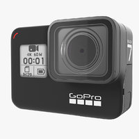 3D gopro hero7 action camera