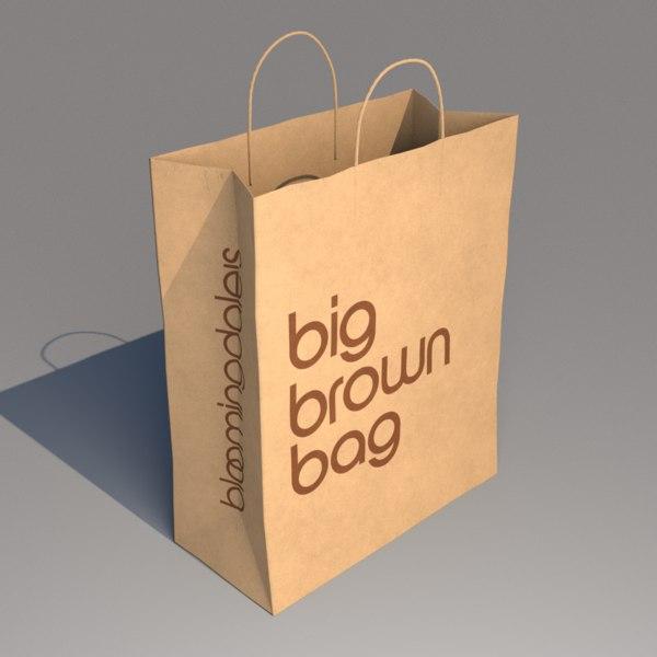 Bloomingdales Große Braune Tasche 3d
