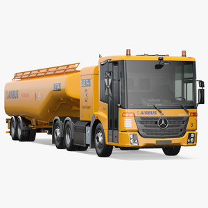 3D mercedes-benz aircraft refueler model