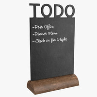 blackboard board 3D model