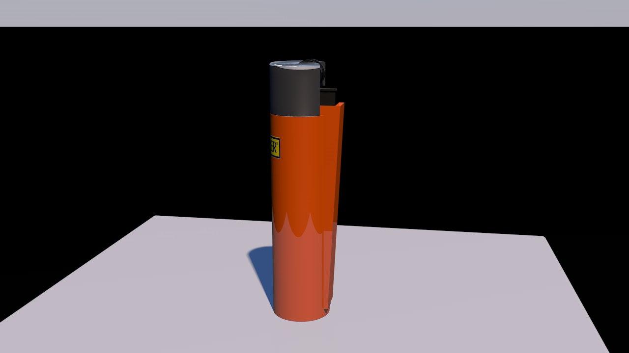clipper lighter 3D model