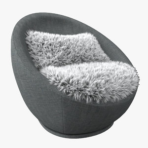 3D swivel chair hair seat