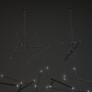 3D 18-light led chandelier eurofase