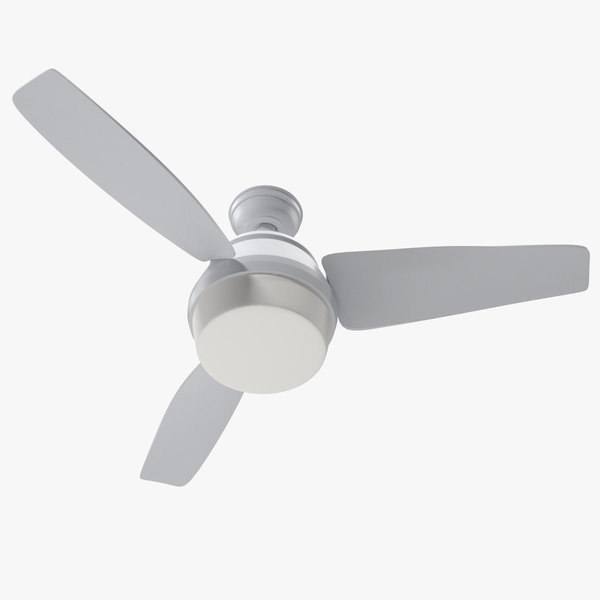 3-blade ceiling fan 3D model