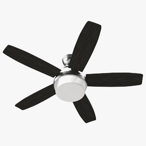 3D chromium blades ceiling fan