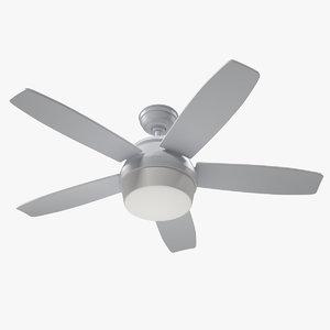white ceiling fan 3D model