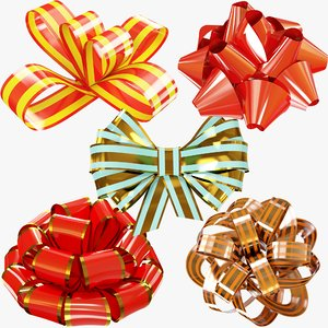 3D gift bows present model