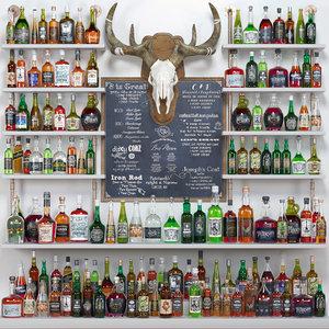bar alcohol shop 3D model