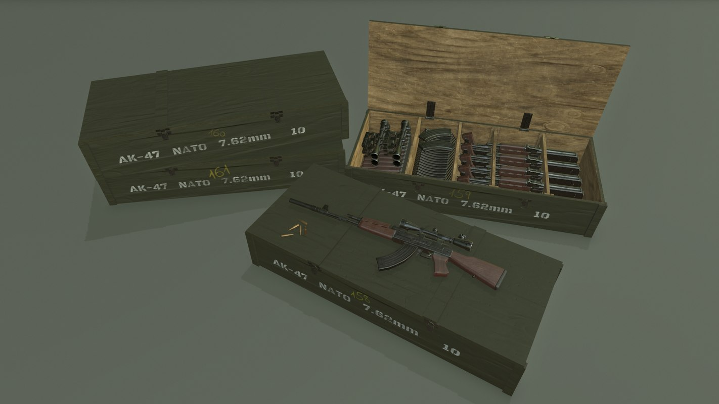 3D gameready ak-47 model