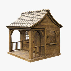 3D wood old wooden model