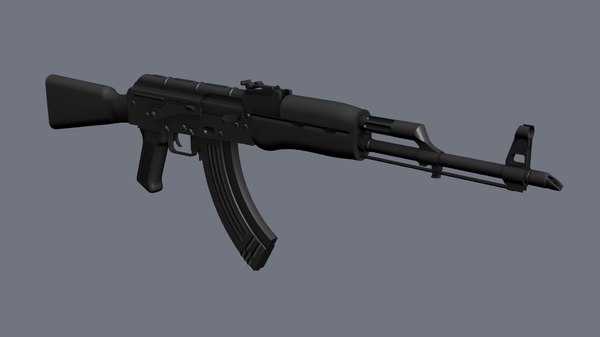akm assault rifle 3D