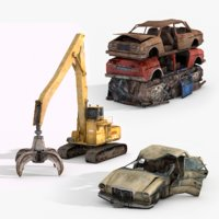 3D junkyard vol 2 vehicles