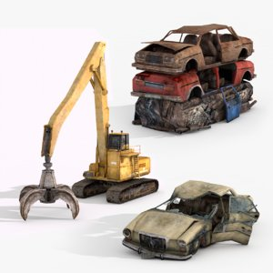 3D junkyard vol 2 vehicles