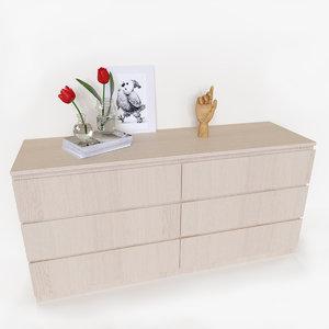 3D dresser decoration set model
