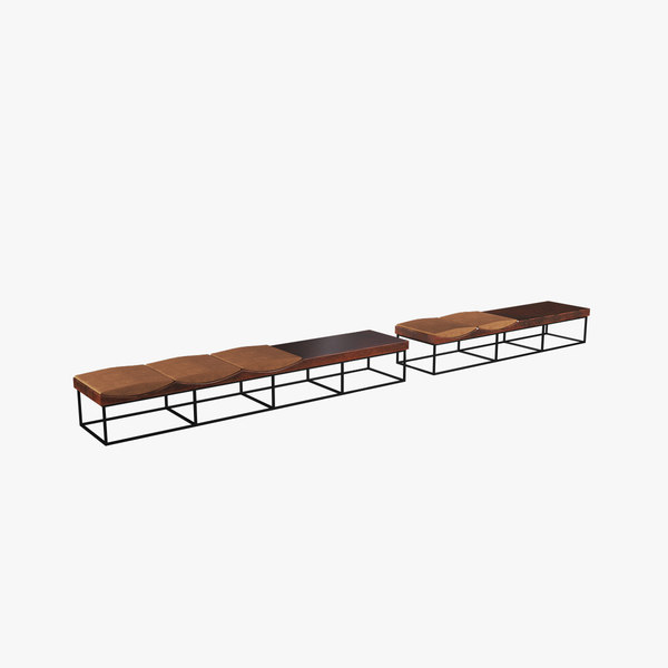 wood bench 3D model