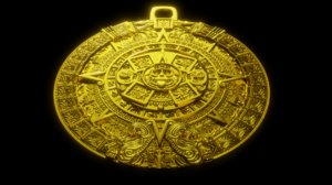 aztec sun stone model