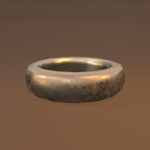 gold band ring model