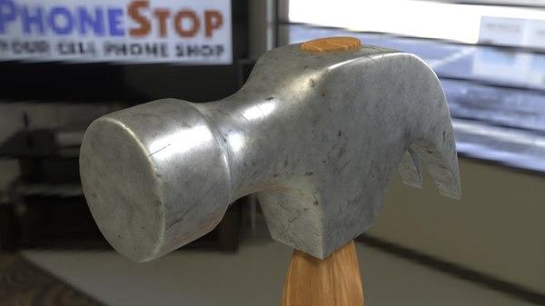 3D nail hammer
