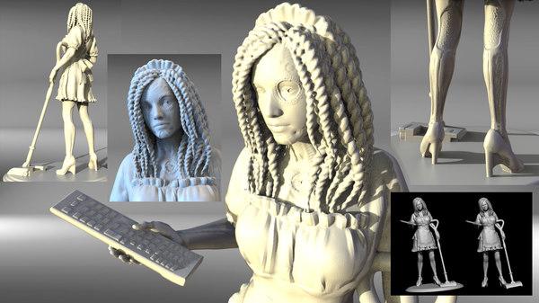 art woman 3D model