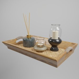 3D tray candle