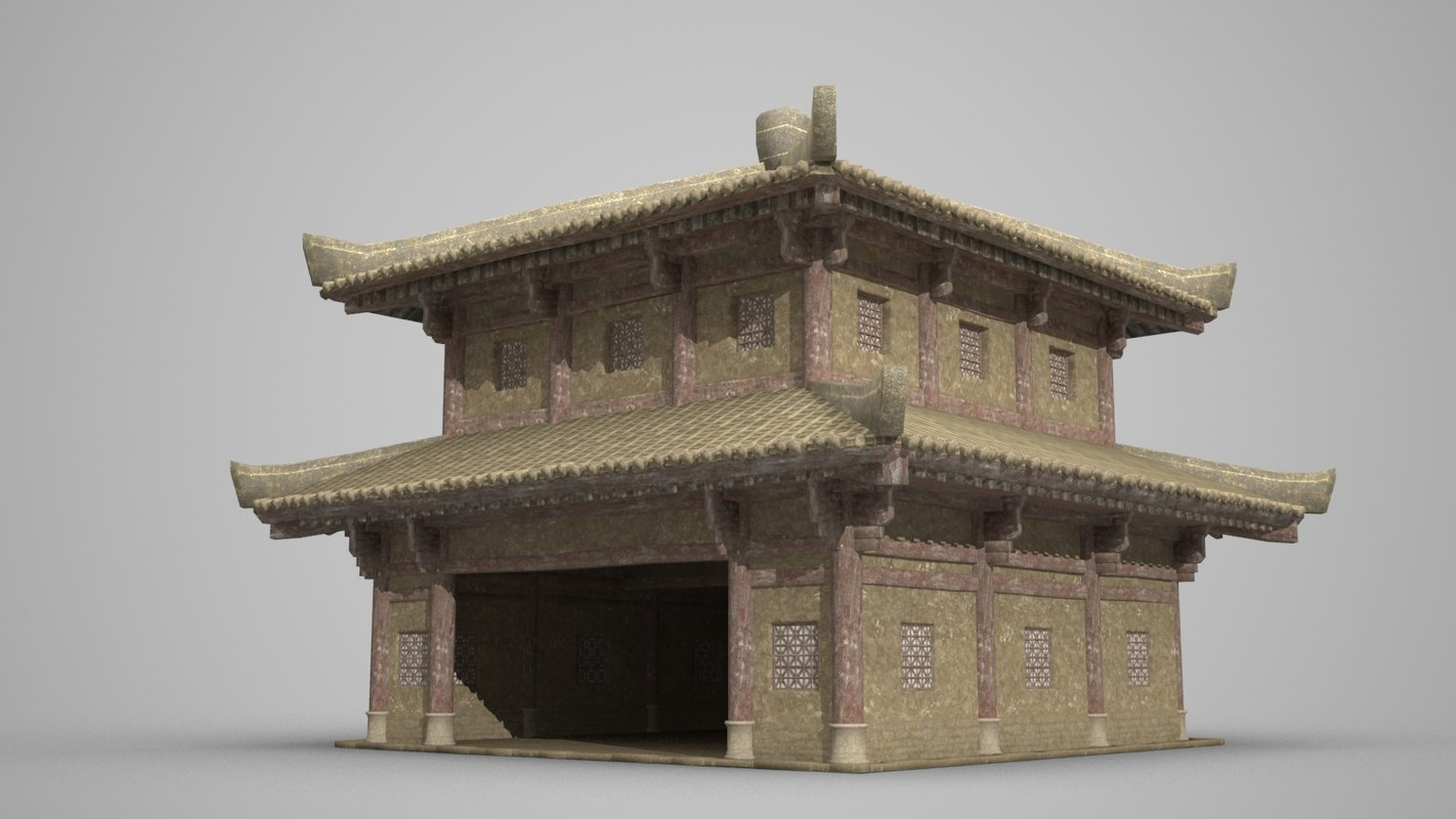 3D palace ancient architecture model