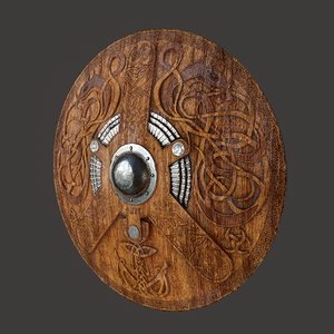 serpent viking shield model