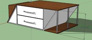 3D modern dresser