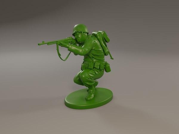 american soldier ww2 shoot model