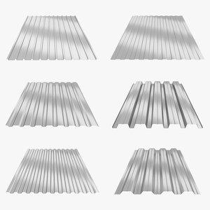 profiled sheets 3D model