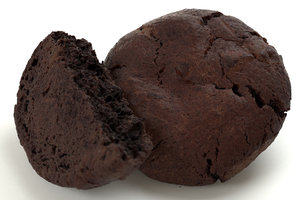 3D chocolate cookie biscuits model