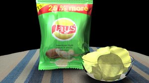 chips packet table 3D model