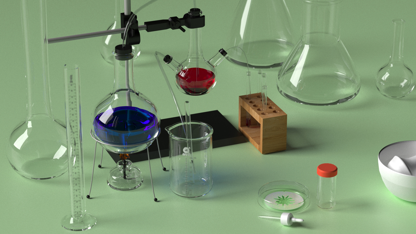 lab equipment set model
