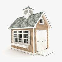 garden shed 05 3D