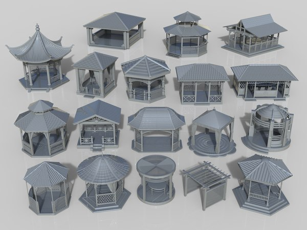 arbors 18 pieces 3D model