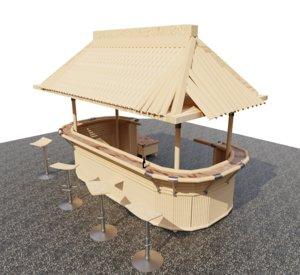 mini bar 3D model