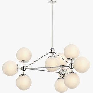 3D modo chandelier model